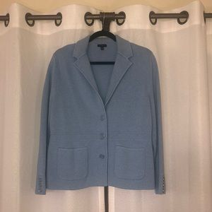 Baby blue Talbots 3-button cardigan